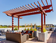 Relax with a glass of wine on the rooftop terrace