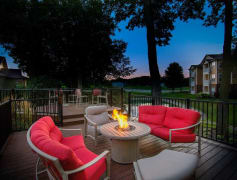 Cozy tabletop fire pit