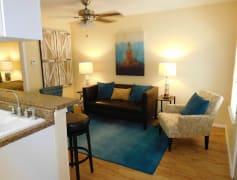 Open layout living floor