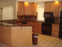 Kitchen and part of F. Room