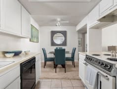 Open Kitchen with Living Room View - Windrush Apartments