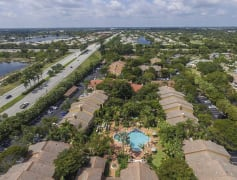 Aerial View of Quiet Waters at Coquina Lakes