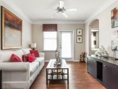 Living Room with Hardwood Floor - St James at Goose Creek