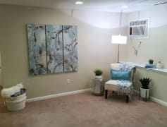 Spacious open living rooms which open up to the kitchen and dining rooms.