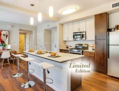 Limited edition floor plans feature stainless steel appliances, quartz countertops, and soft-close designer cabinets