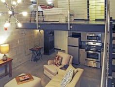 Living area of loft