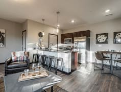 Our villas feature open floor plans that open to the kitchen.