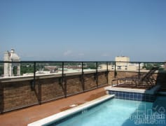 take a splash at the rooftop pool
