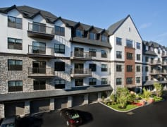 The Tudor inspired architecture of Fort Hill Apartments