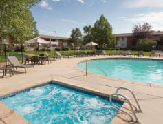 Take a dip in our community pool and hot tub