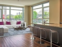 Open concept for kitchen and living areas