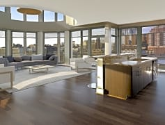 Large floor to ceiling windows in each home