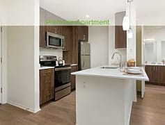 Premium Apartment Kitchen with Stainless Steel Appliances