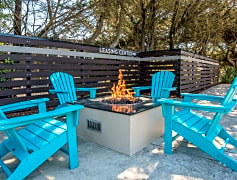 Warm up on breezy nights at the fire pit