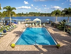 Lakeside resort-style pool with cabanas and Wi-Fi. It's is a great day for a stay cation!