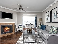 Living Room with Fireplace - Arbors River Oaks