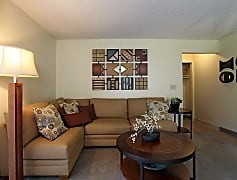 Living Room, Crown Point Apartments, 0