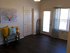 Faux wood laminate throughout living areas