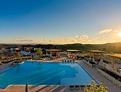 The pool at sunrise