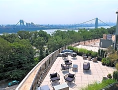 Rooftop Lounge with amazing view of the George Washington Bridge!