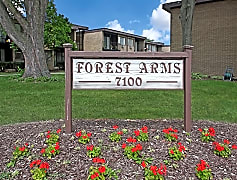 Community Signage, Forest Arms Apartments, 0