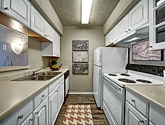 Galley Style Kitchen with Full Appliance Package