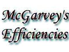 McGarvey's Efficiencies, 0