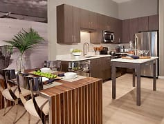 One Bedroom Kitchen and Dining Room