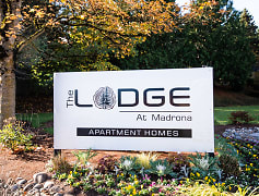 Tacoma Apartments - The Lodge at Madrona Apartments - Sign