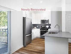 Newly renovated kitchens (in select homes) with new cabinetry, stainless steel appliances, tile backsplash, and hard surface plank flooring