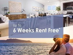 Up to 6 weeks rent free*