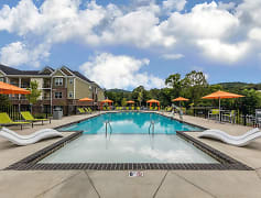 Sparkling Swimming Pool at Hawthorne at Southside in Asheville, NC