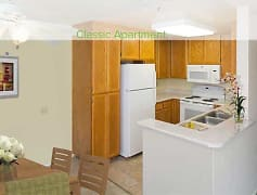 Classic Two-Bedroom Apartment Kitchen
