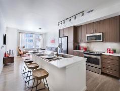 Gourmet kitchens with subway tile backsplashes
