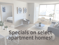 Specials on select apartment homes!