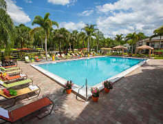 Resort style pool with cabanas and poolside Wi-Fi. Our residents will enjoy many relaxing days in a beautiful setting with tropical landscaping.