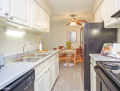 Bright kitchen area with generous countertop space