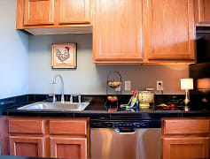 Kitchen, The Crossing at 2600 Apartments, 0