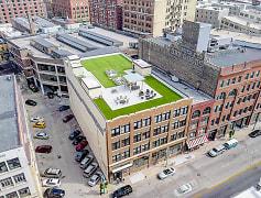 Building rooftop terrace & pet area