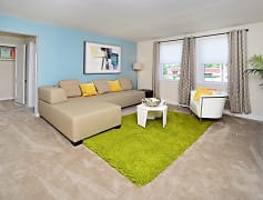 Living Room, Oak Grove Apartments & Townhomes, 0