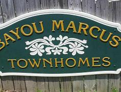 Community Signage, Bayou Marcus Townhomes, 0