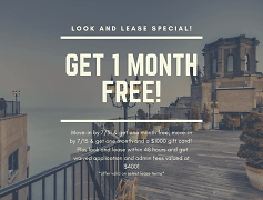 Get One Month Free!  Call the leasing office for details!