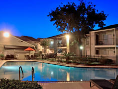 Normandy Woods Apartments Pool Area at Night