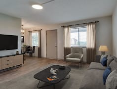 Living Room, Innovation Flats at Research Park, 0