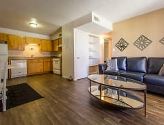 Living Room, Kitchen & Dining Area