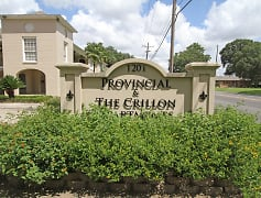 Welcome Signage of Provincial and The Crillion Apartments in Baton Rouge, LA