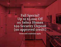 Fall Special! Up to $3,000 Off on select homes!Terms and conditions apply.