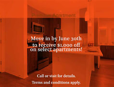 Move in by June 30th and receive up to $1,000 off on select apartment homes! Terms and conditions apply.