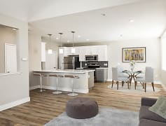 Open floor plans with modern finishes