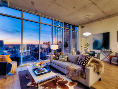 Living Room, One Light Luxury Apartments, 0